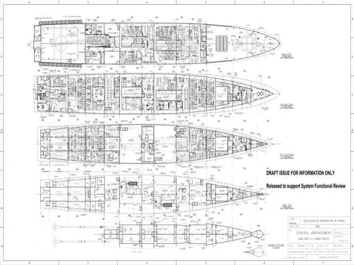 Arleigh Burke Cl Destroyer Deck Plans Spruance Cl ... on