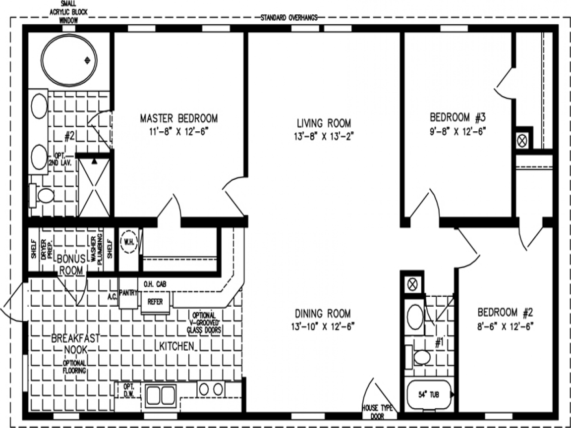 1200 square foot open floor plans open floor plans 1200 for Square footage of a room for flooring