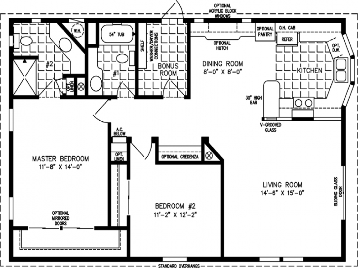 1000 Sq FT Home Floor Plans 1000 Square Foot Modular Home ...