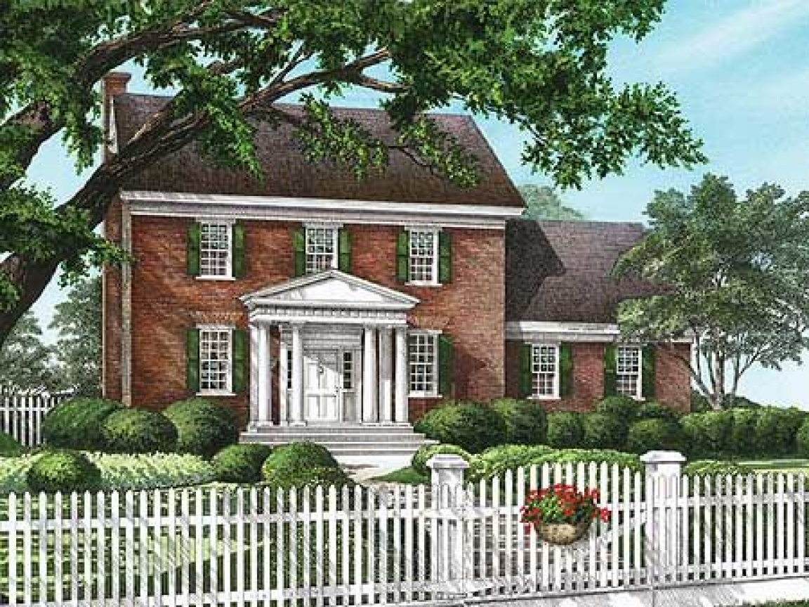 Classic colonial homes house plans traditional colonial for Classic colonial floor plans