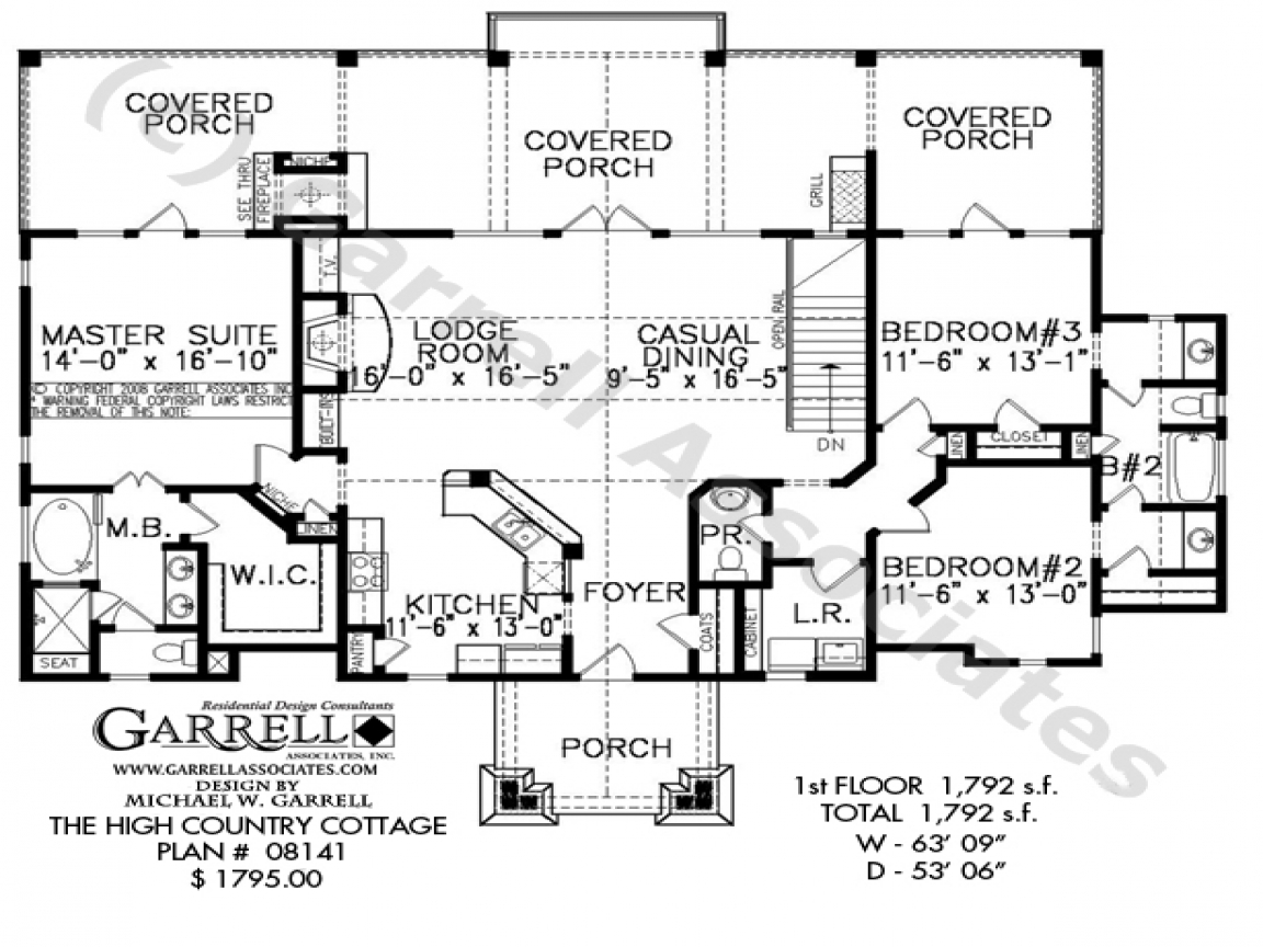 Country cottage house plans small country house plans for Country cottage floor plans