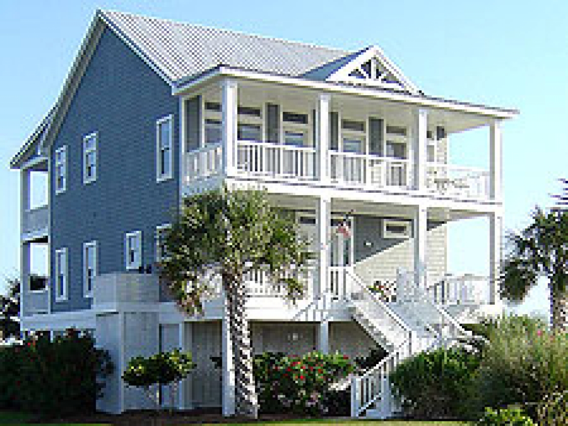 Beach Cottage House Plans On Pilings Beach House Plans On