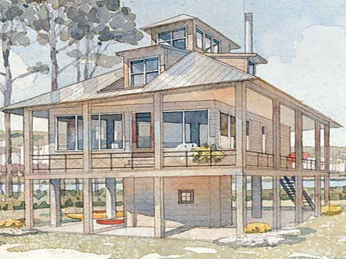 Tidewater Haven House Plan Tidewater Cottage House Plans