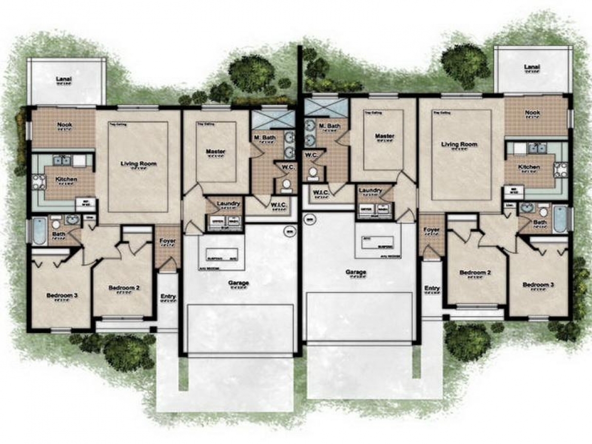 Duplex Designs Floor Plans Best Duplex House Plans Best
