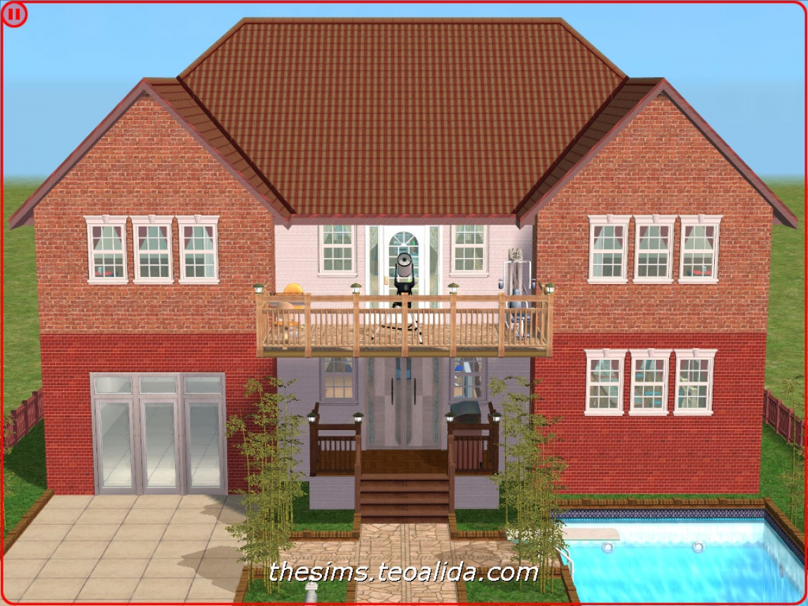 House plans with symmetrical fronts symmetrical house for Symmetrical house plans