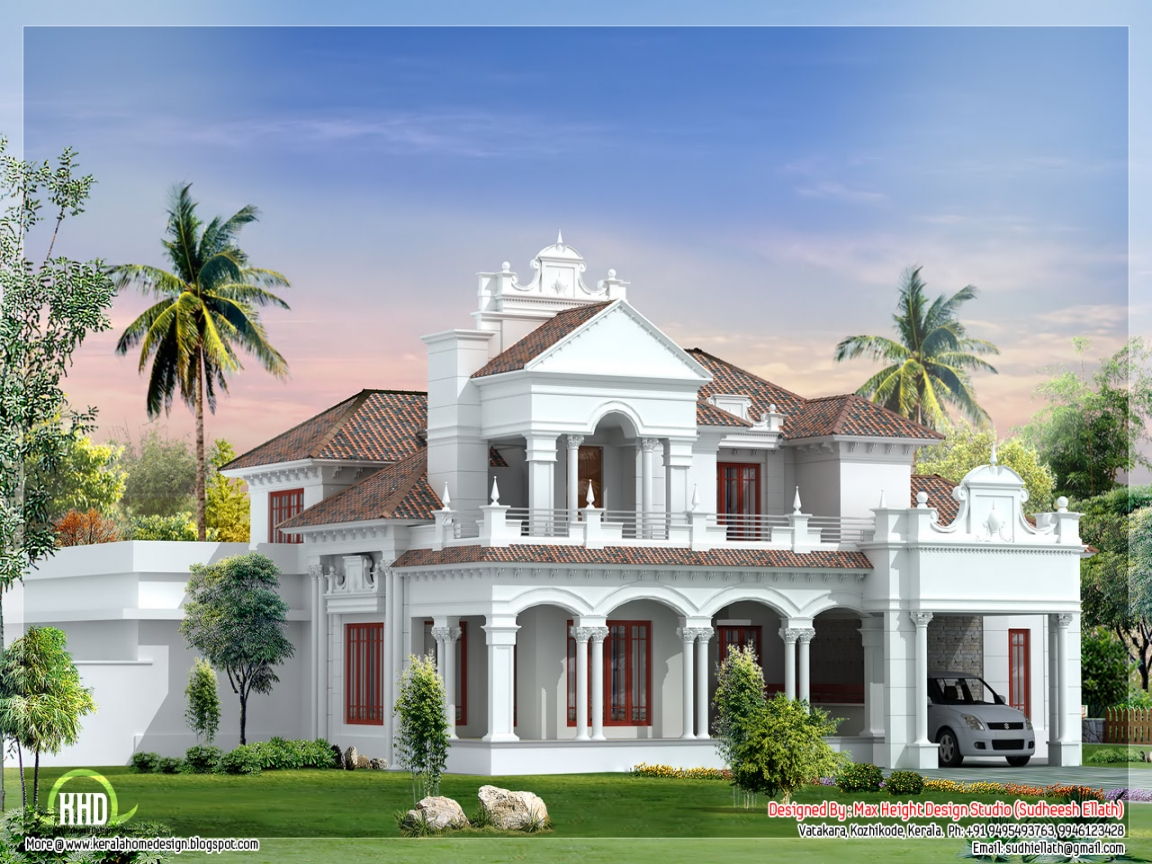 One story luxury house plans colonial house plans designs for Luxury 1 story house plans