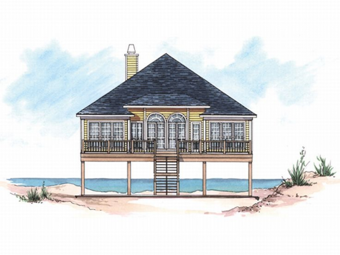 Unique house plans home plans and floor plans at for Small coastal cottage house plans