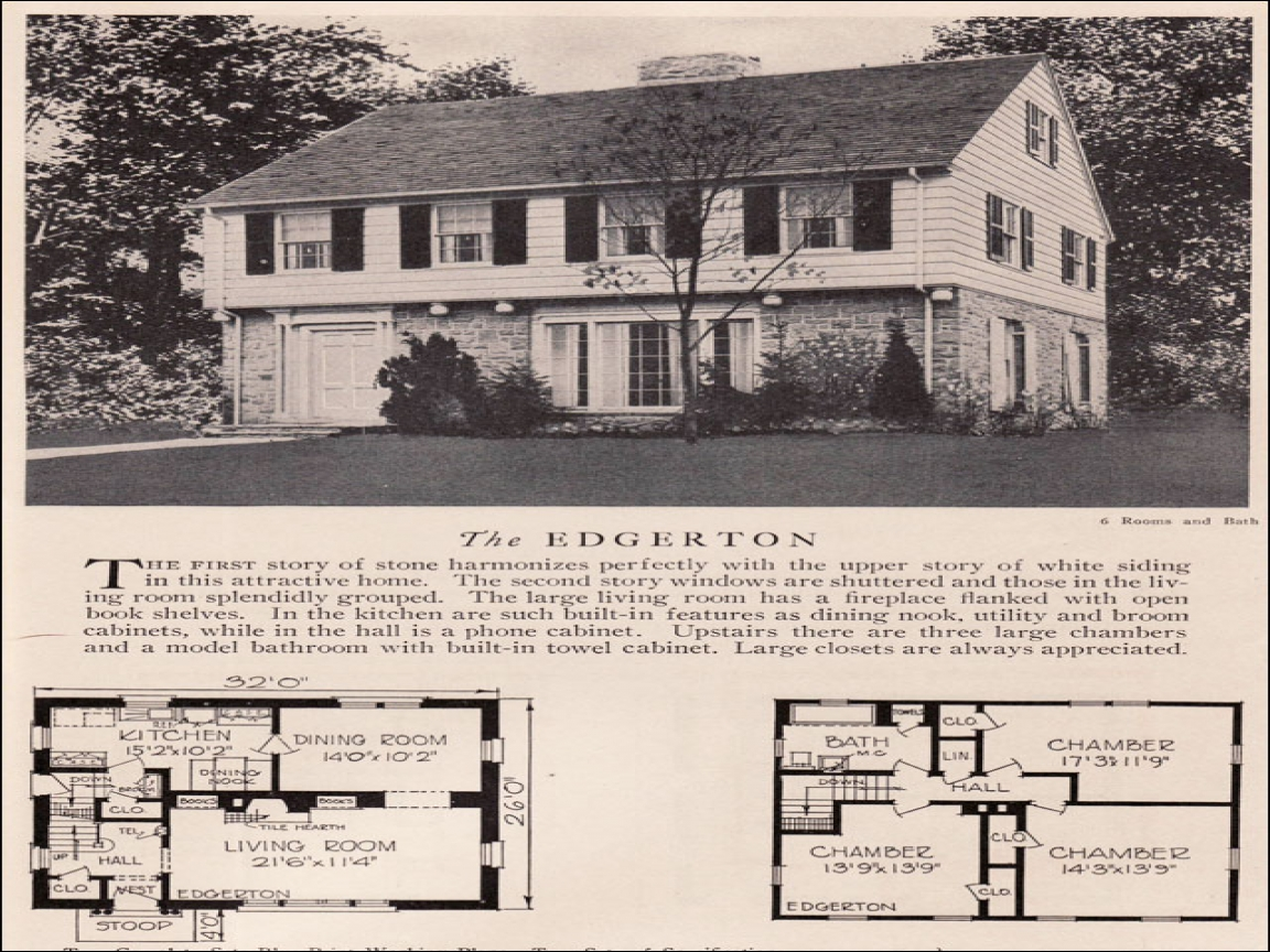 Colonial Schoolhouse 1930s Colonial House Plans 1930s