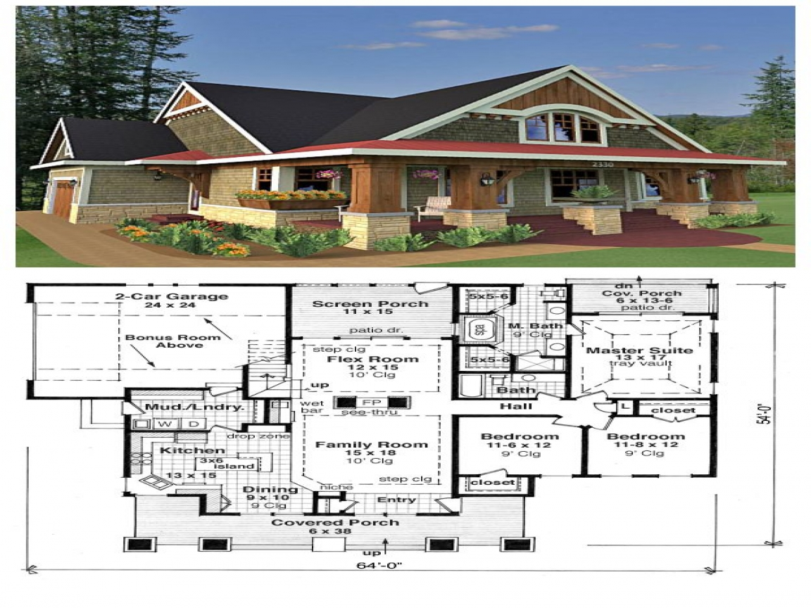 Craftsman bungalow house plans bungalow cottage house Traditional bungalow house plans