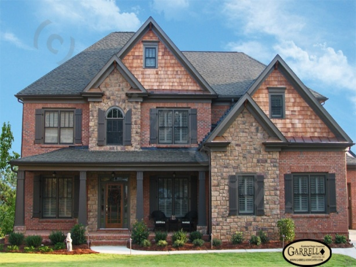 House plans with brick and stone exterior brick house for Stone and brick house plans