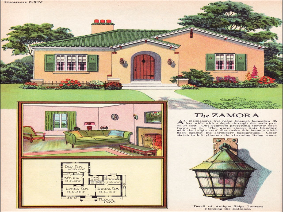 Spanish Colonial Revival Small Spanish Revival House Plans