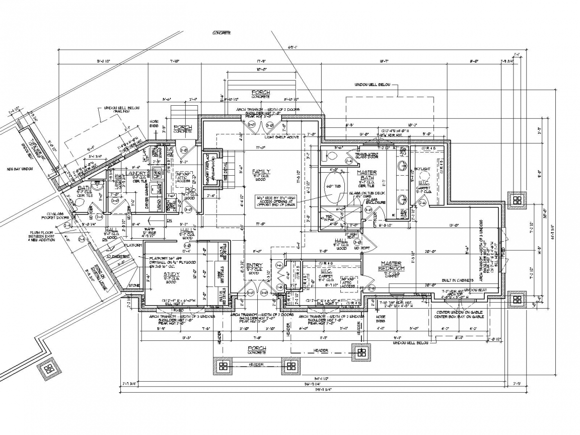 Architectural Drawing House Floor Plan Color Pencil