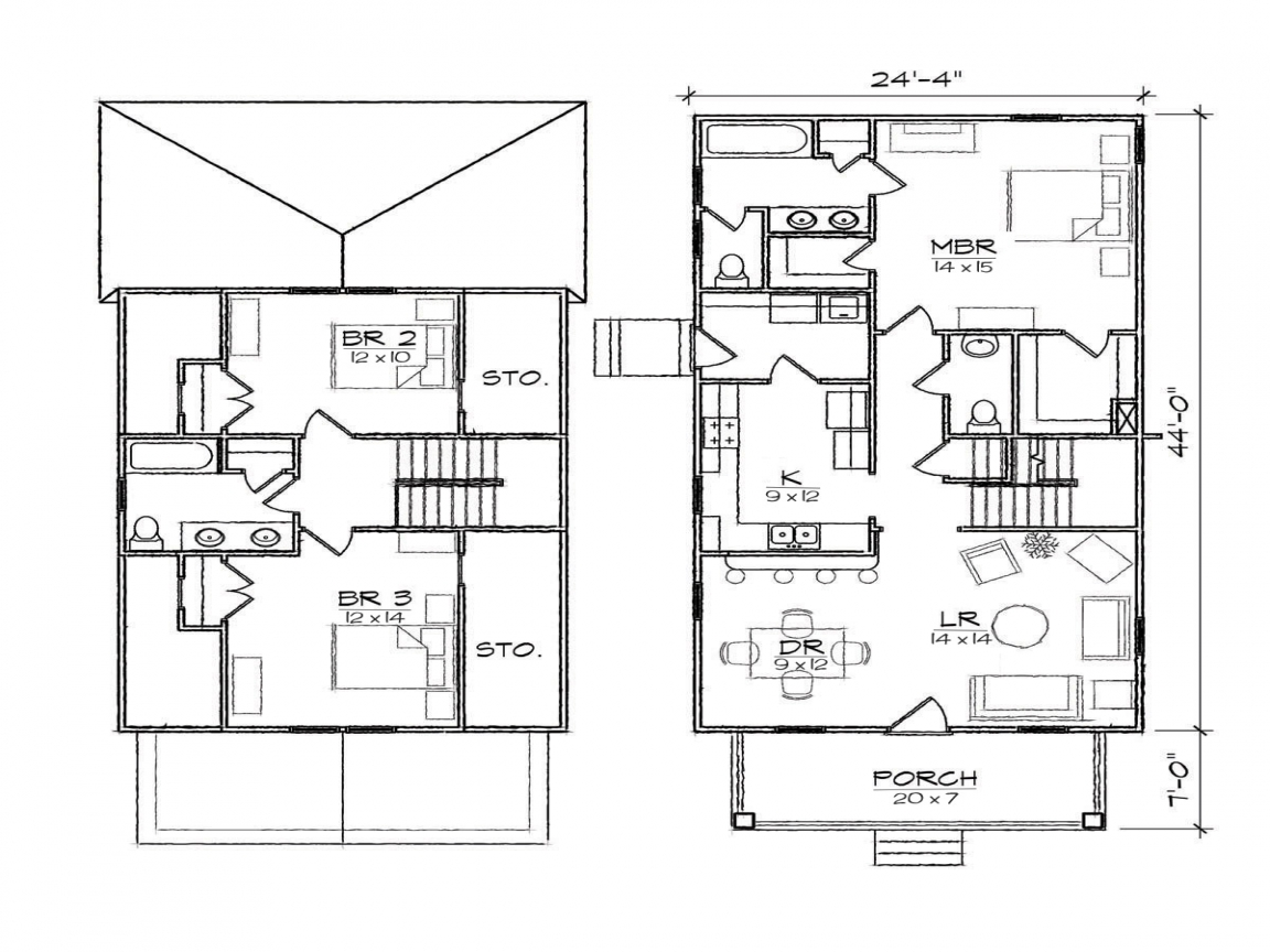 Bungalow floor plans with attached garage 2 bedroom - Bungalow house plans with attached garage ...