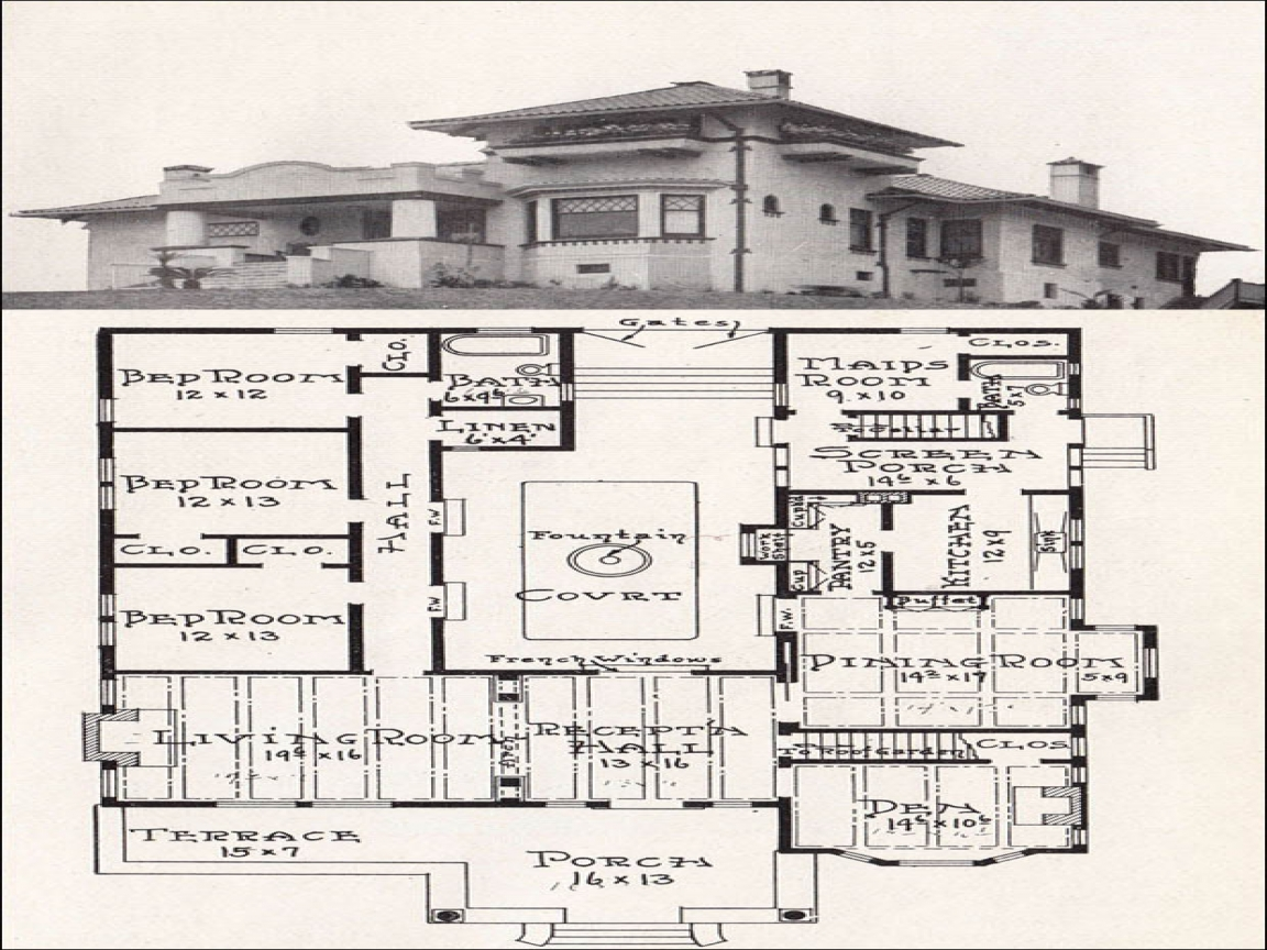 Spanish mission house plans mission style house plans for Spanish mission house plans