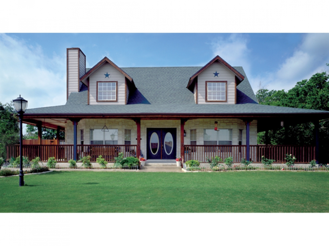 Country house plans with open floor plan country house - Home designs with wrap around porch ...
