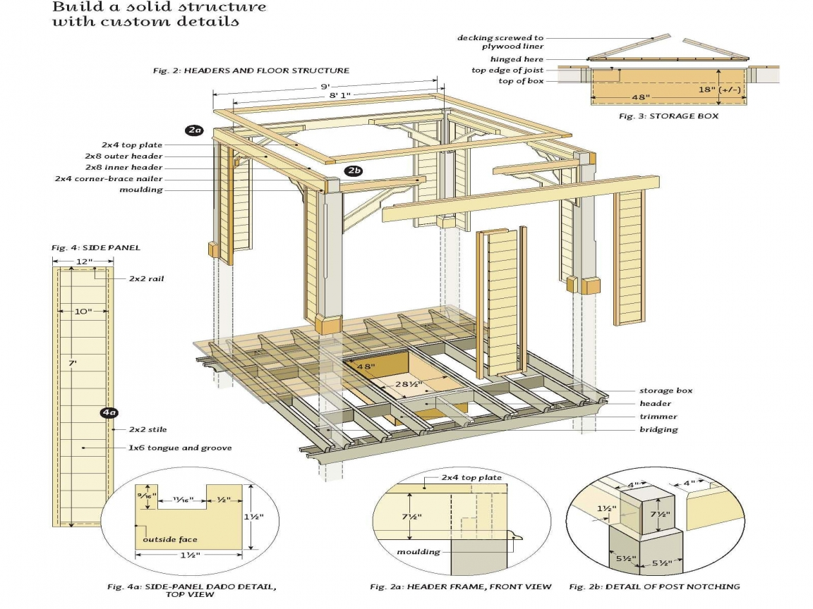 Gazebo Free Plans Blueprints Square Gazebo Plans Square