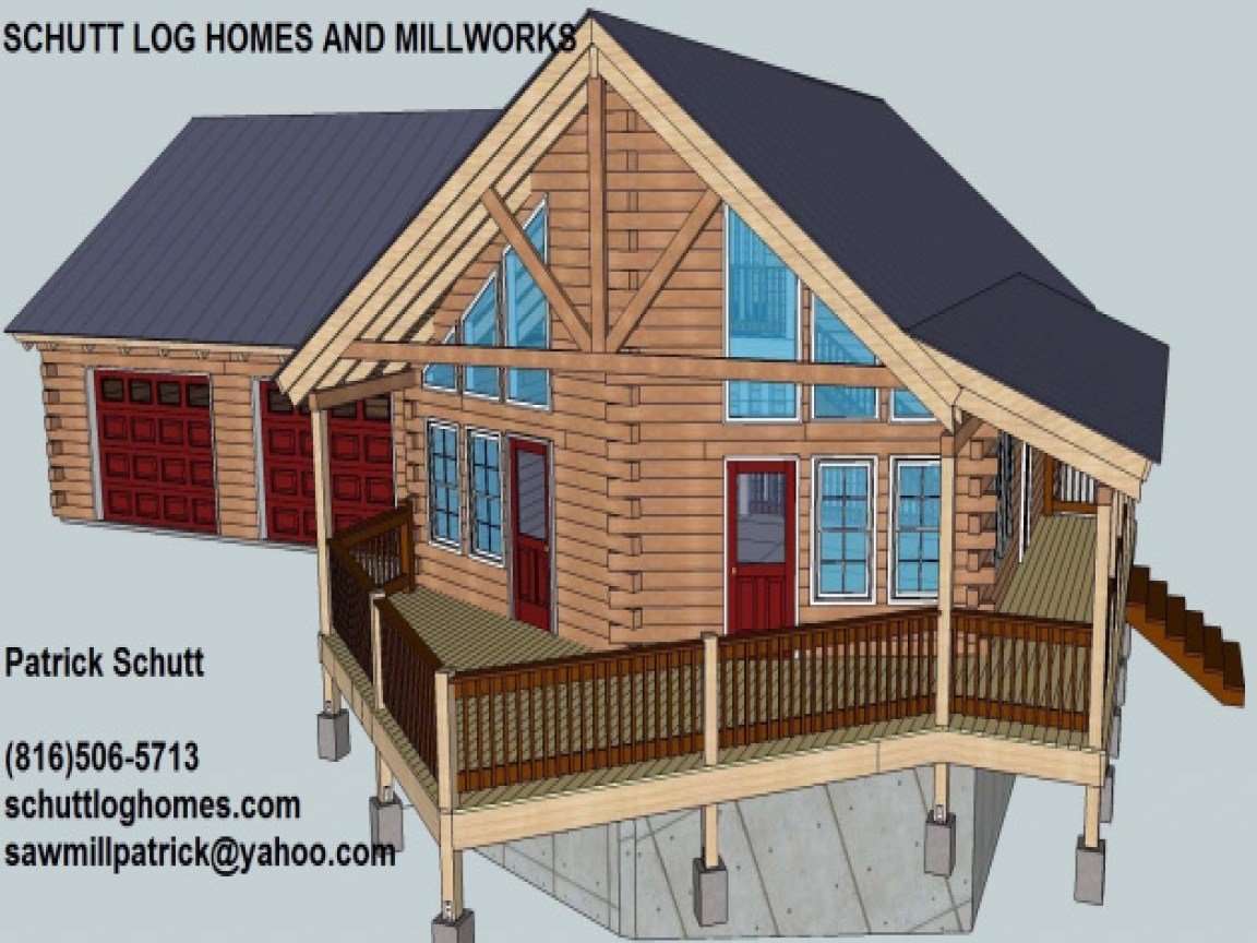 Log garage with apartment plans log cabin garage apartment for Log home plans with garage