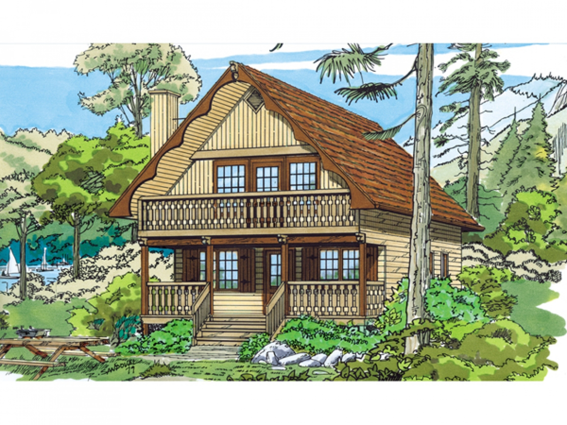 Mountain chalet house plans swiss chalet style house plans for Small mountain house plans