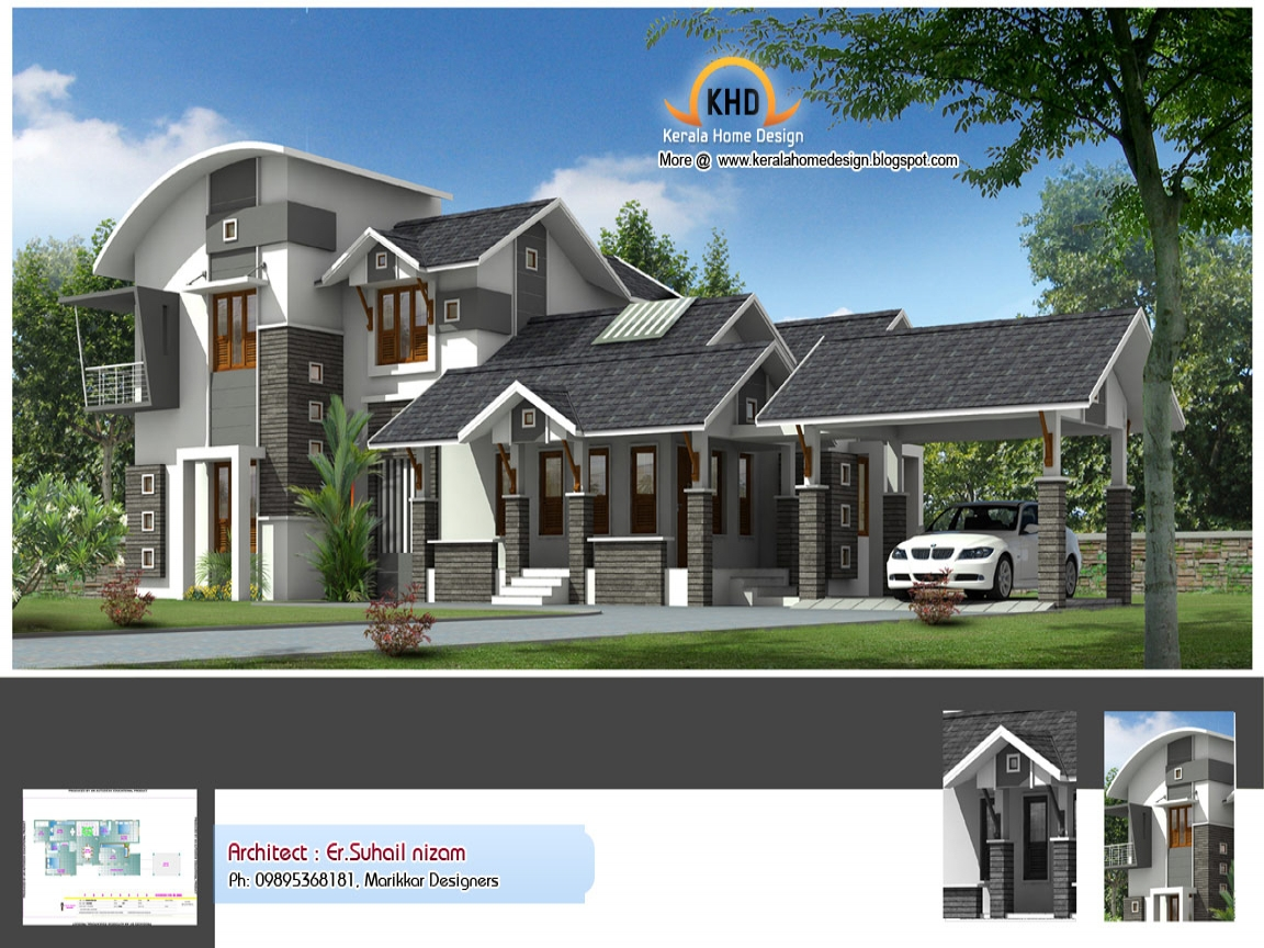 Newest home plans new home design plans new house plans for New home designs in india