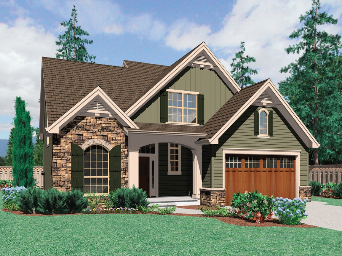 Craftsman house plans with front garage best craftsman for Best craftsman house plans