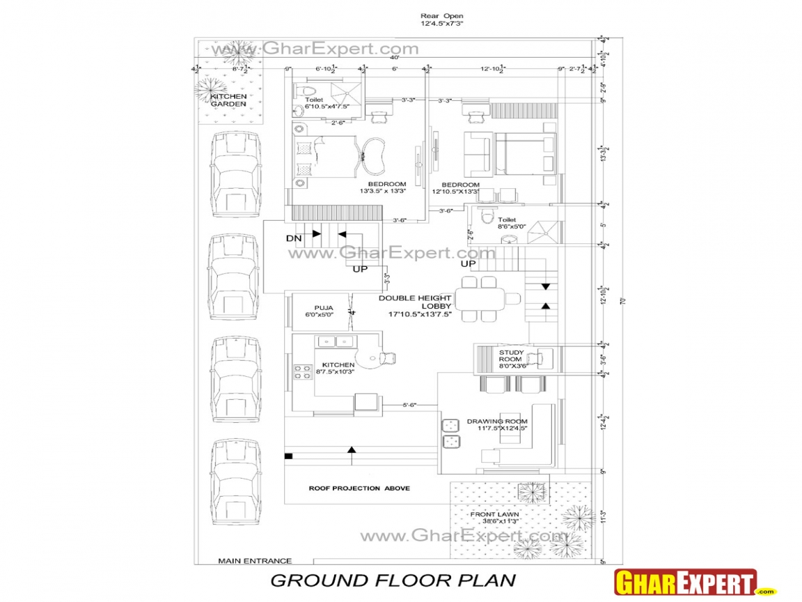 House plans 50 x 35 30 x 50 house plans 30 wide house for 50 50 house plan