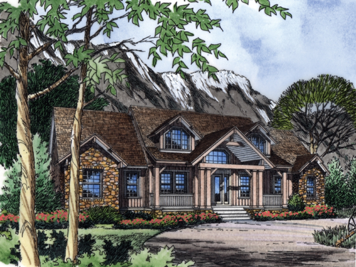 Rustic craftsman sloping house plans wilder rustic for Rustic and more