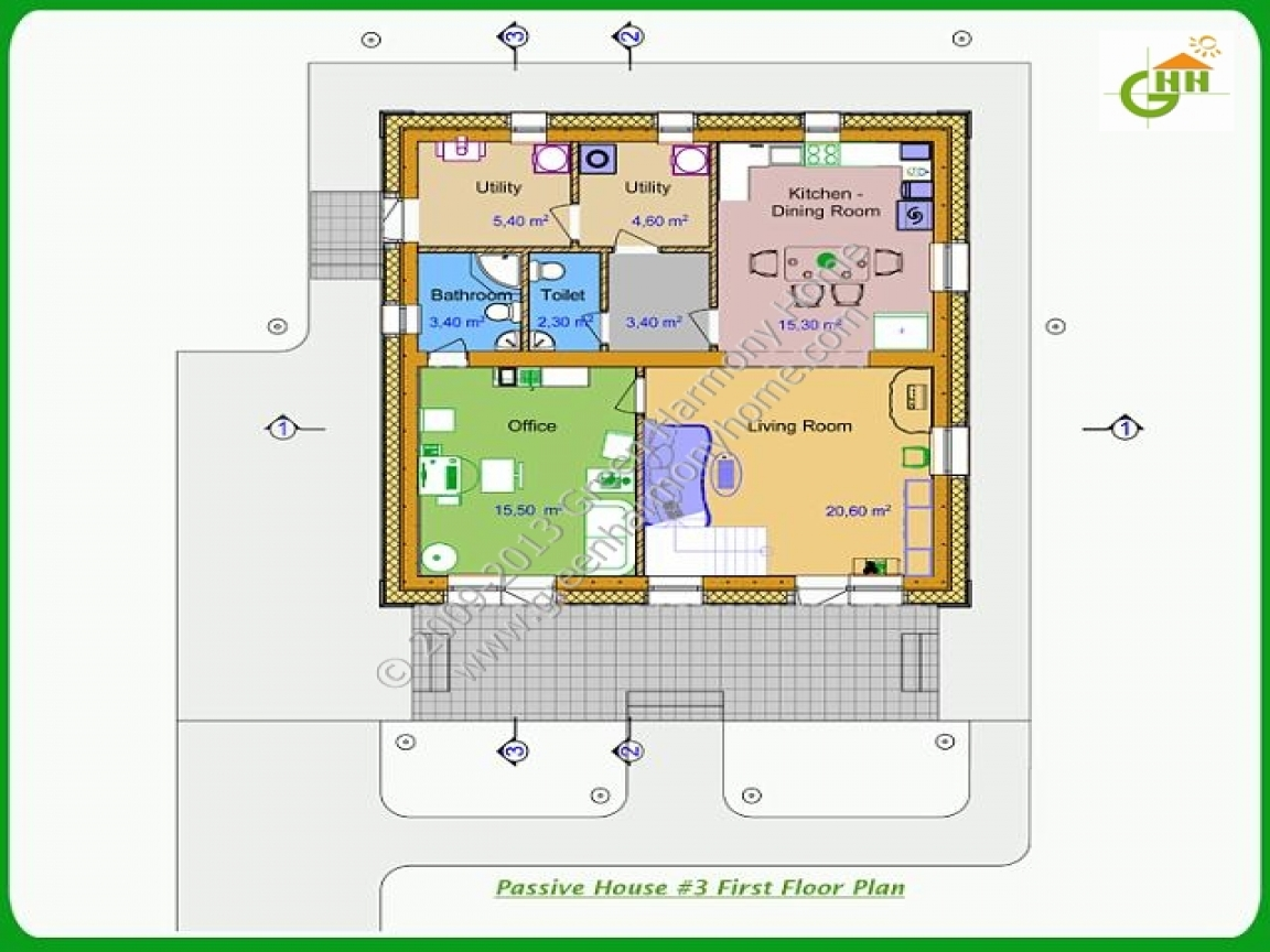 Small passive solar homes passive solar home design plans for Passive solar ranch house plans