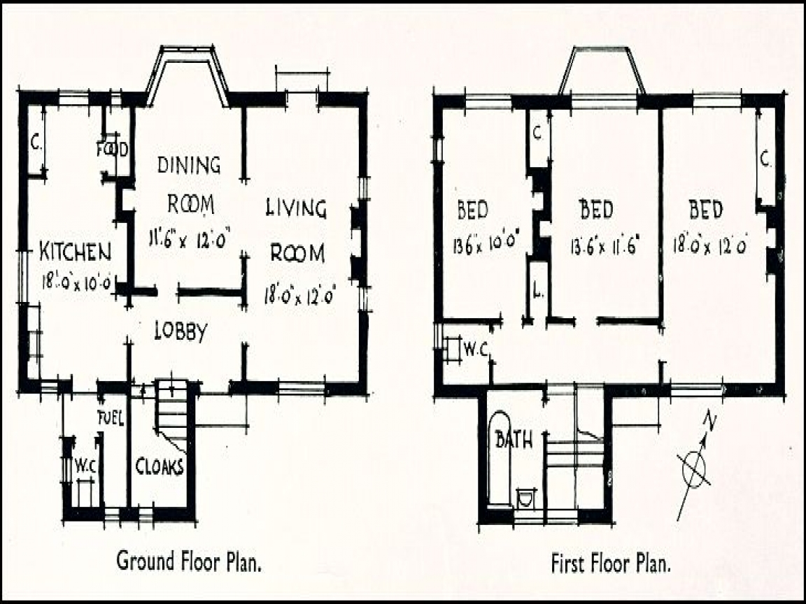 1930s home floor plans open floor plans small home 1930 for 1930s house plans