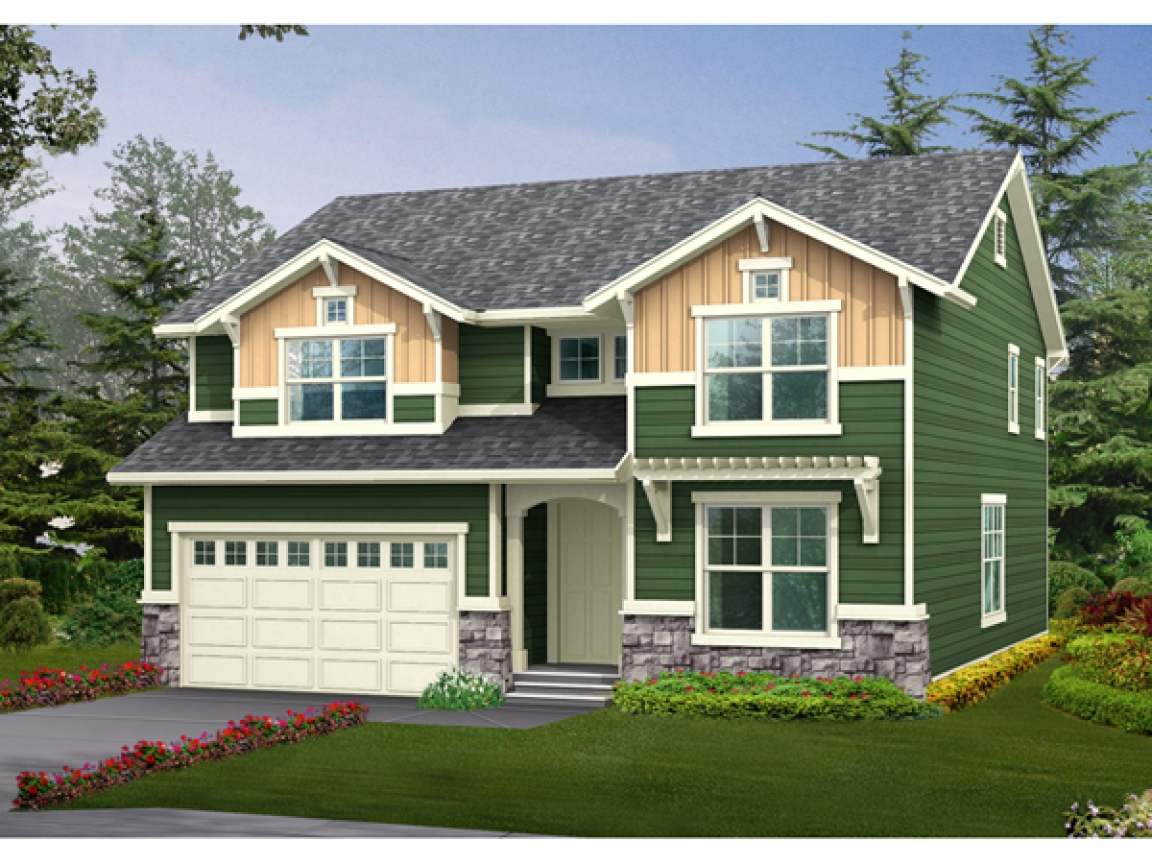 2 story craftsman house plans craftsman one story house for Two story craftsman