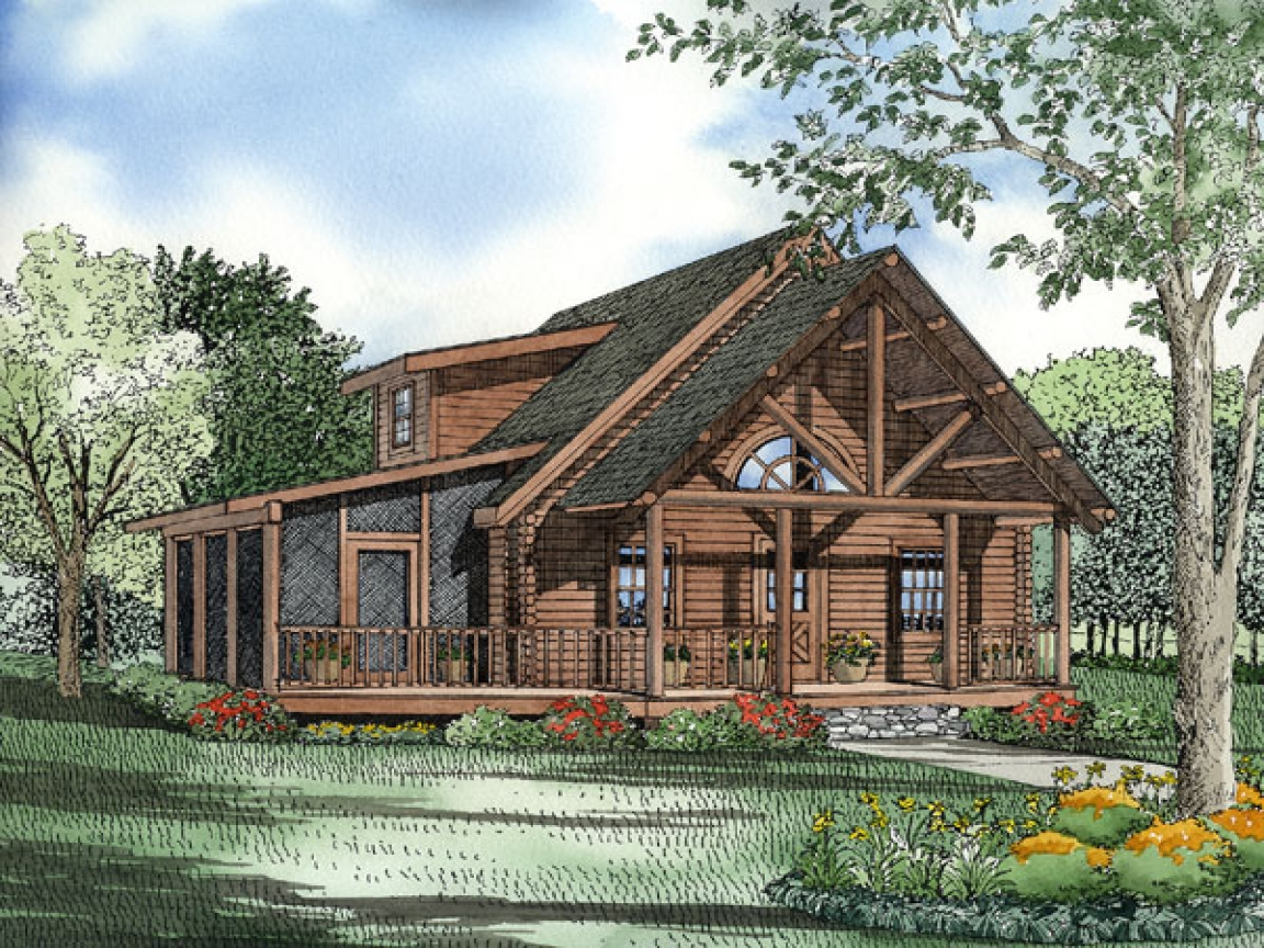 Log Cabin House Plans Log Cabin House Plans With Open