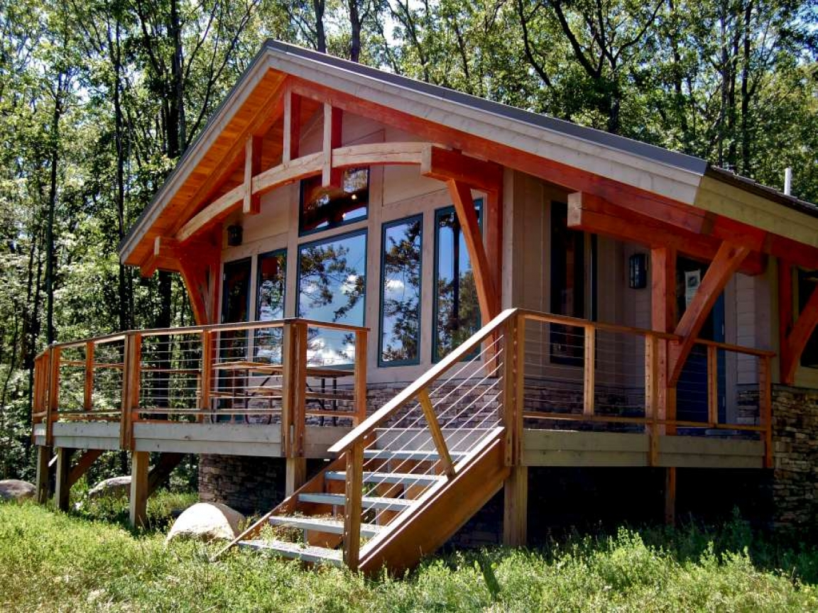 Small cabin plans small timber frame cabin kits small for Small mountain cabin plans