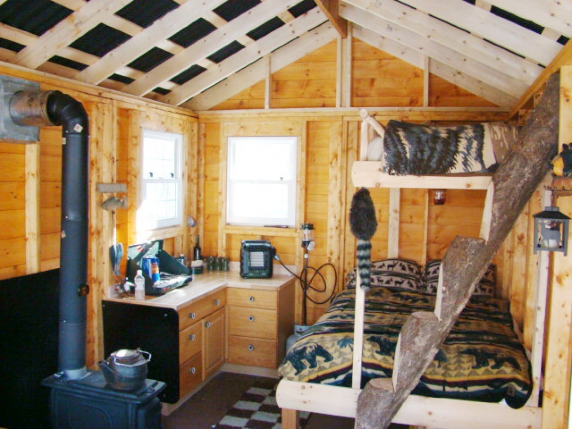 Do It Yourself Home Design: Small Cabins Tiny Houses Interiors Interior Portable