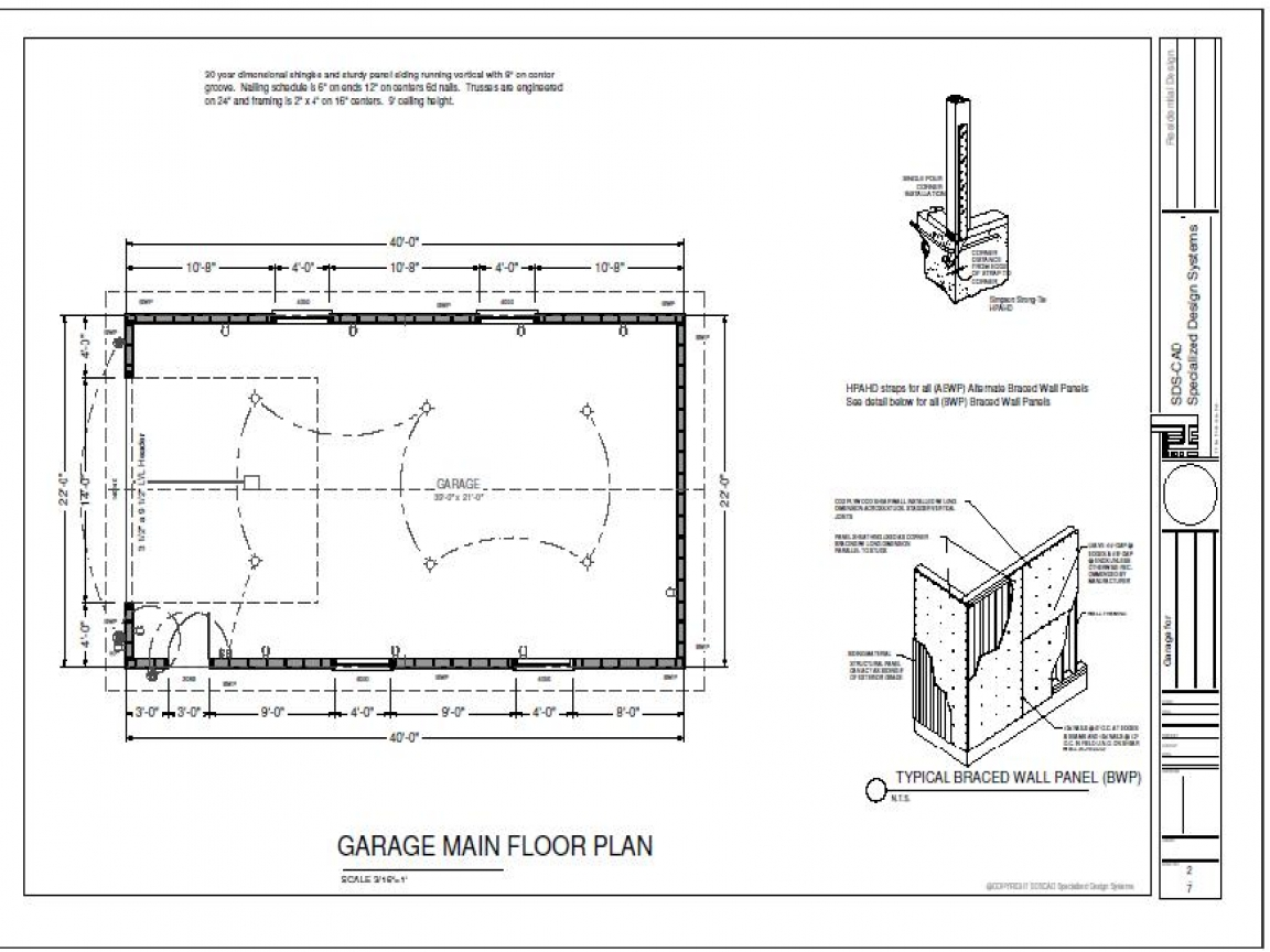 40 x 40 building designs 40 x 60 garage plans cabin for Garage plans free blueprints