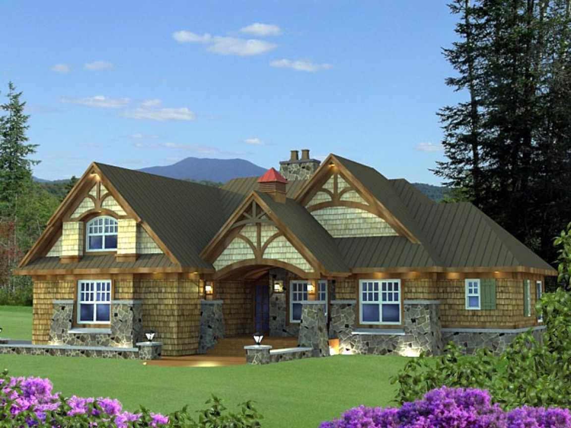Cottage craftsman ranch house style craftsman style for House plan canada