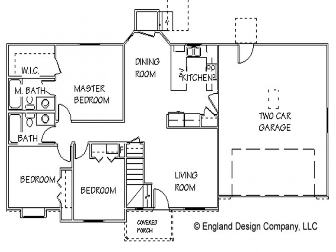 Simple one story houses simple country house floor plans for Easy to build small house plans
