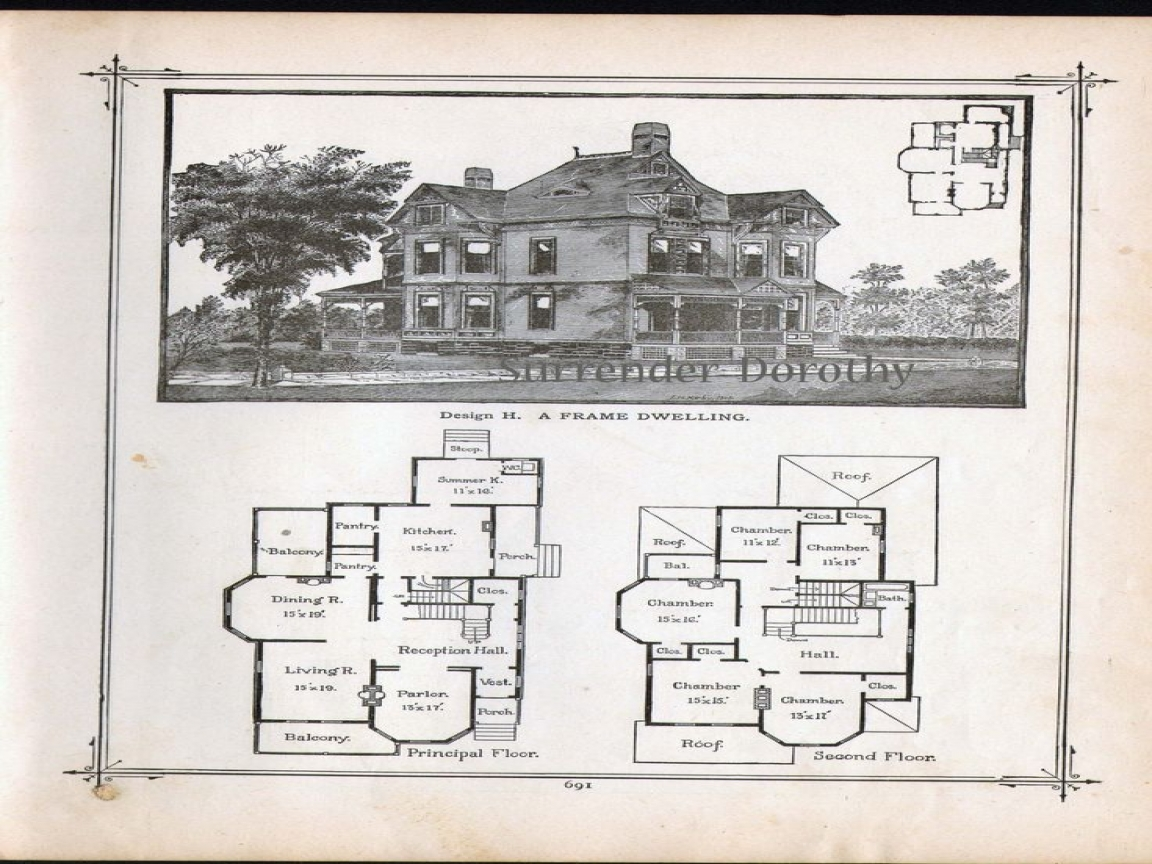 Vintage Victorian House Plans Century Victorian House Plans Lrg A Ccbbe B Bf