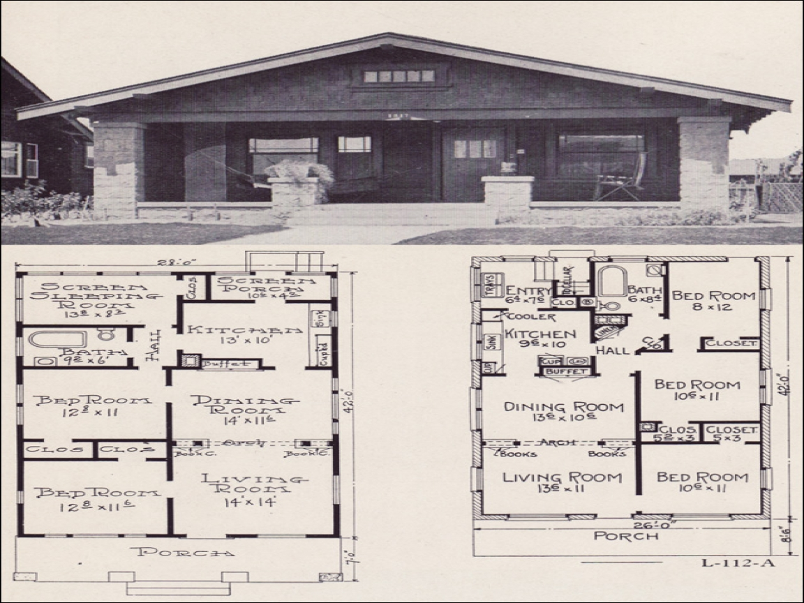 1920s Brick Bungalow House Plans 1920 Bungalow House Plans