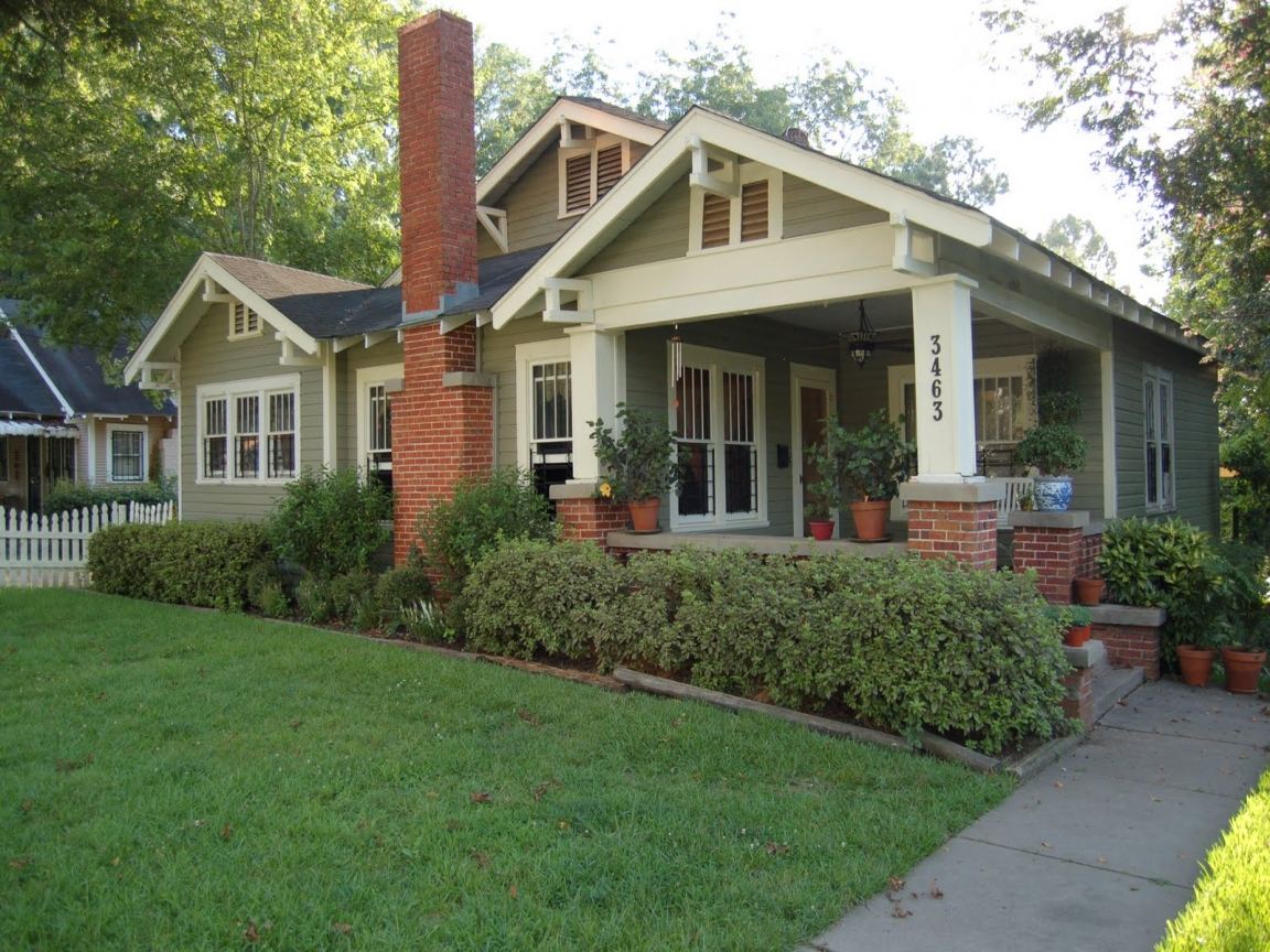 Craftsman bungalow style homes ranch style homes craftsman for Ranch style bungalow