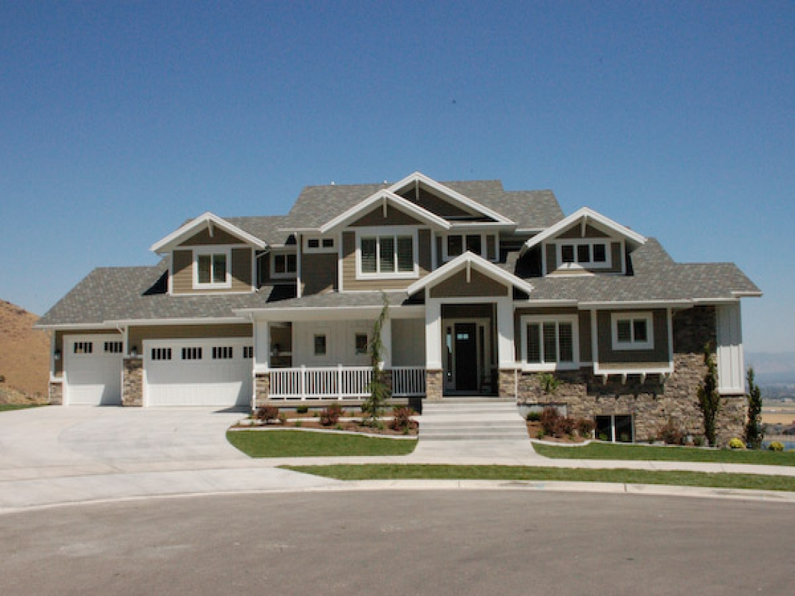 Modern Craftsman Home Exterior Stucco Home Exterior