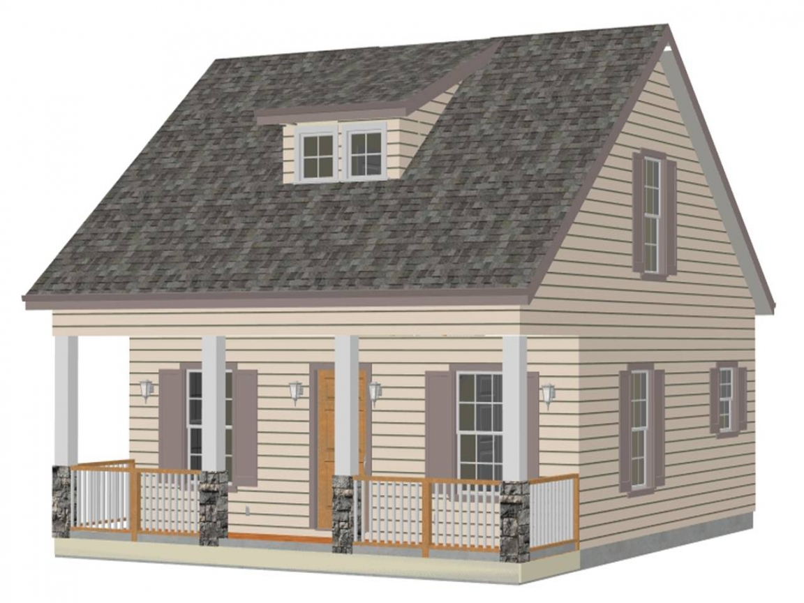 Simple small house floor plans small house plan easy for Easy cabin designs