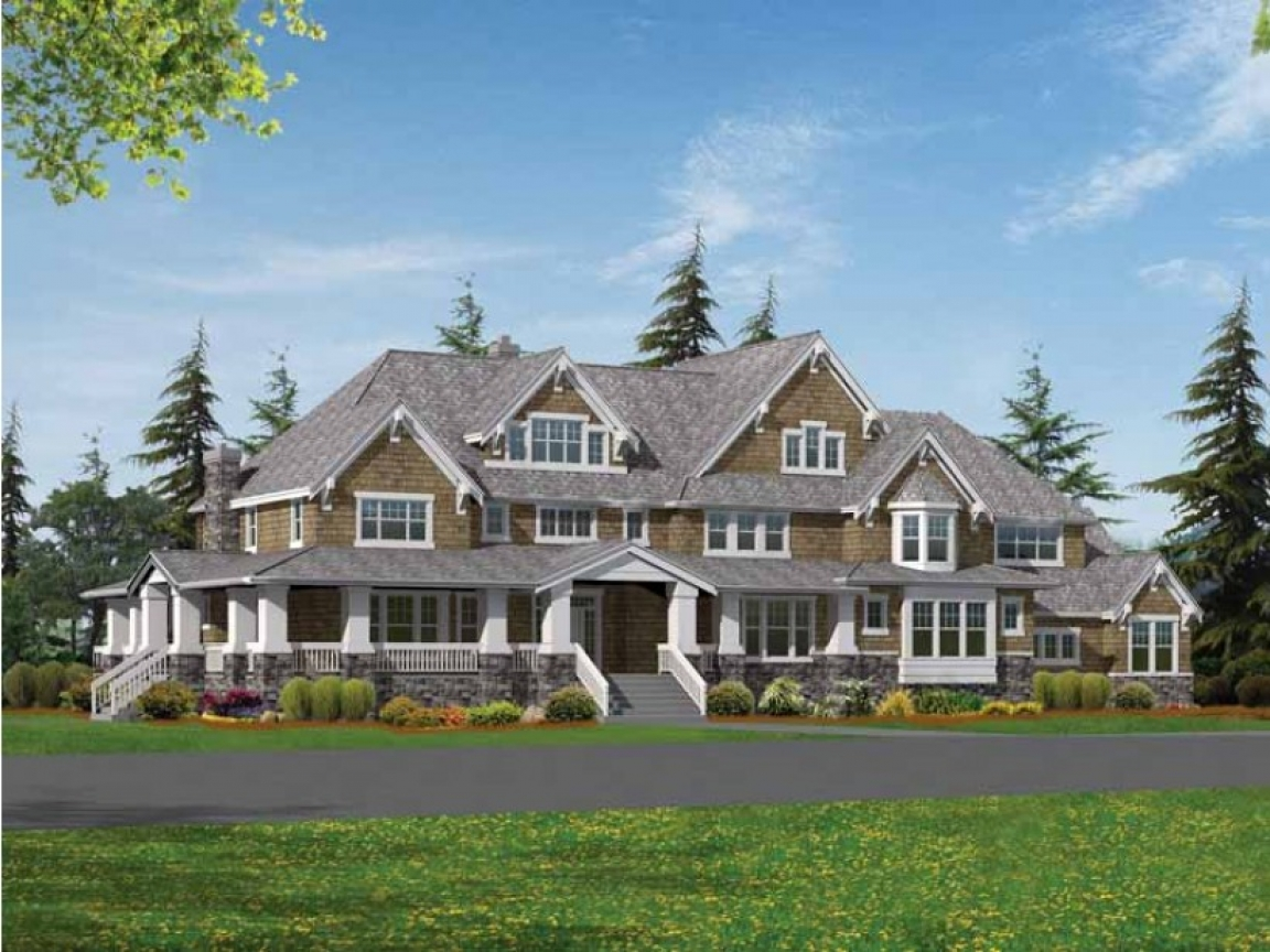 Single story craftsman house plans craftsman style house for Rancher house plans canada