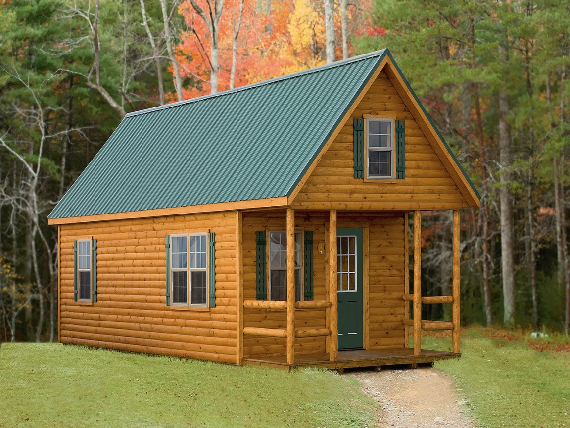 Small log cabin kit homes small log cabin modular homes for Prefab homes designs