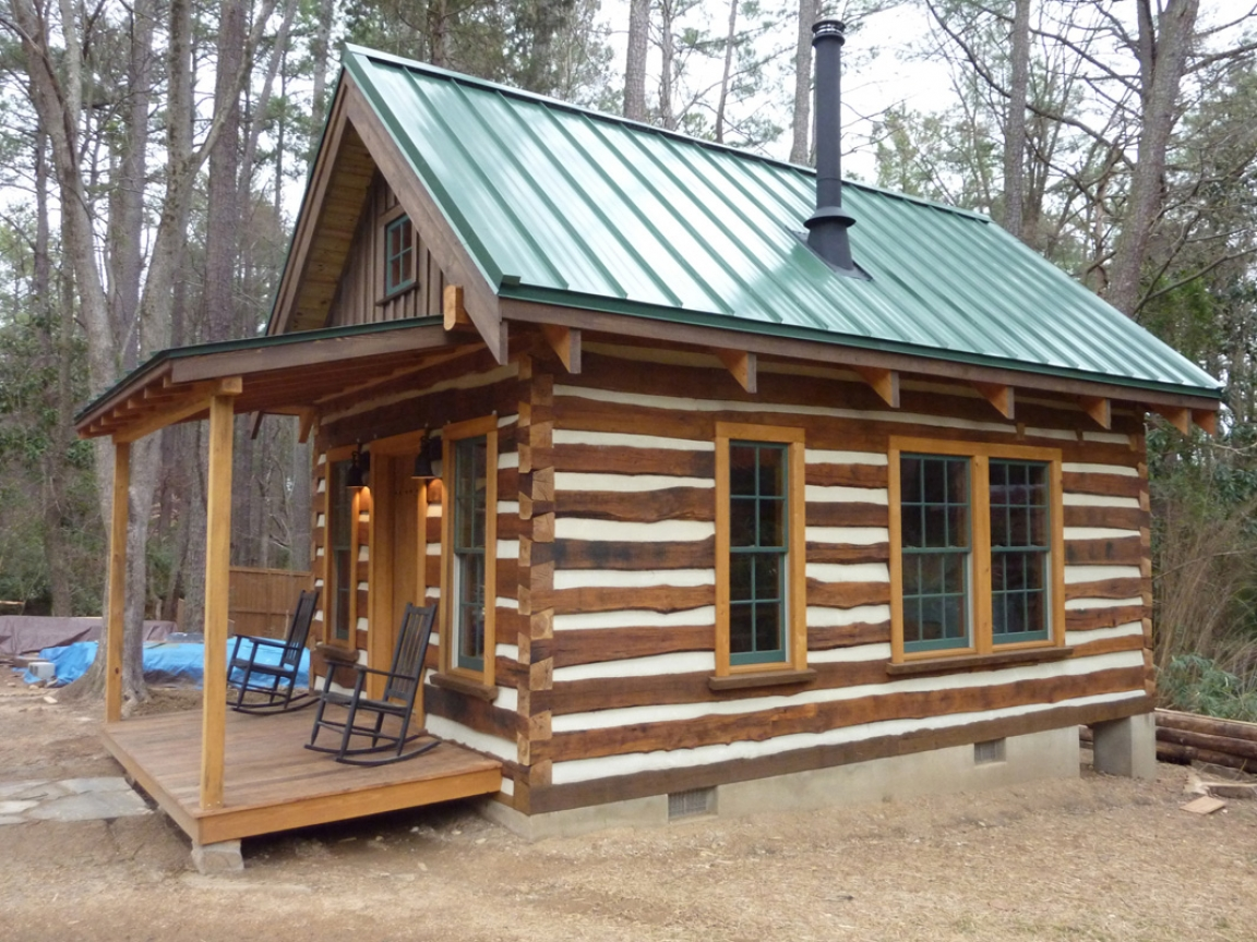 Small log cabin kitchens building rustic log cabins for Small log cabin kitchens