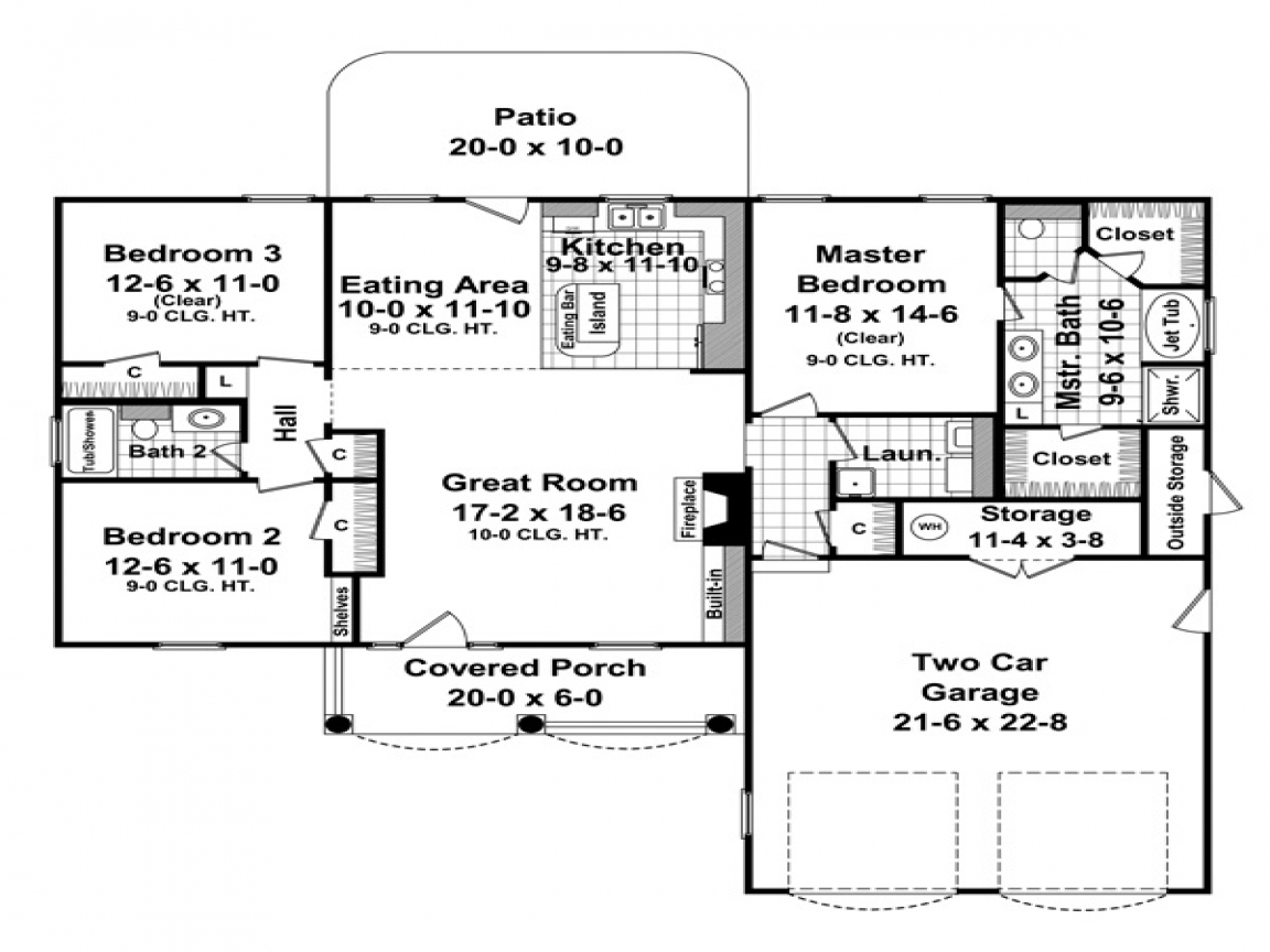 1500 sq ft ranch homes pictures 1500 sq ft ranch house for Floor plans for 1500 sq ft homes