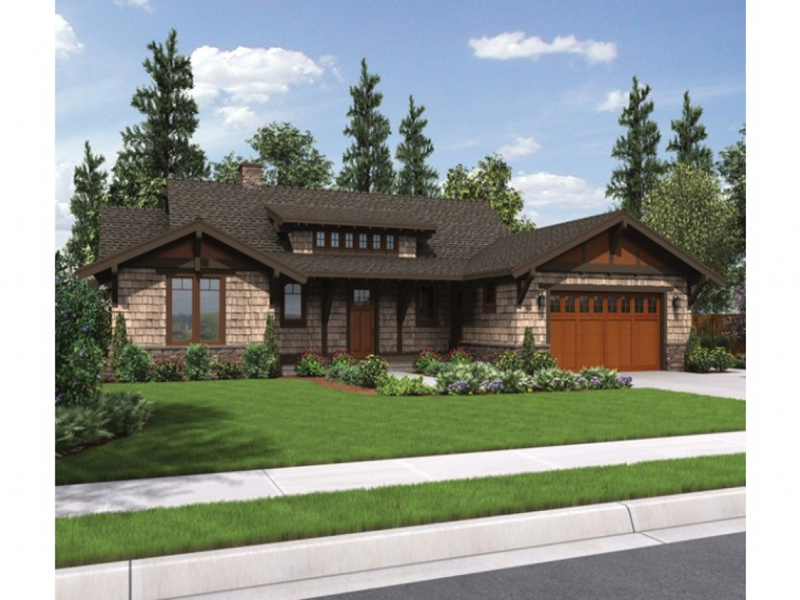 Craftsman ranch house plans with 3 car garage turning for Craftsman classic