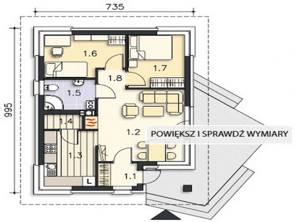 Floor plans 2 bedroom rental small 2 bedroom rental house for Small rental house plans