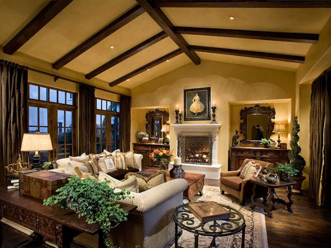Rustic style homes interior design rustic luxury home for Rustic looking homes