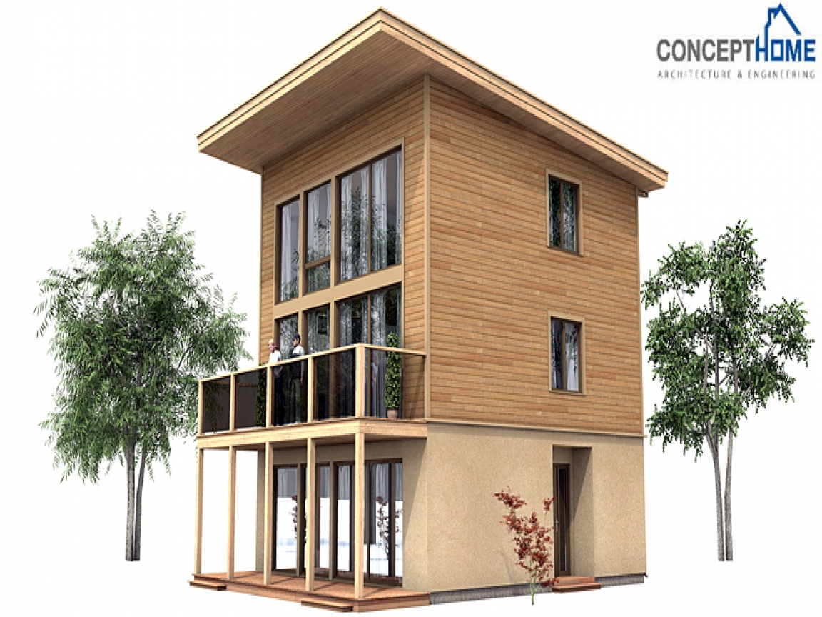 Contemporary small house plans small modern contemporary for Small house design in bangladesh