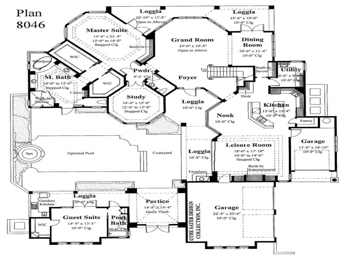 Master bedroom first floor house plans small master for New homes with first floor master bedroom
