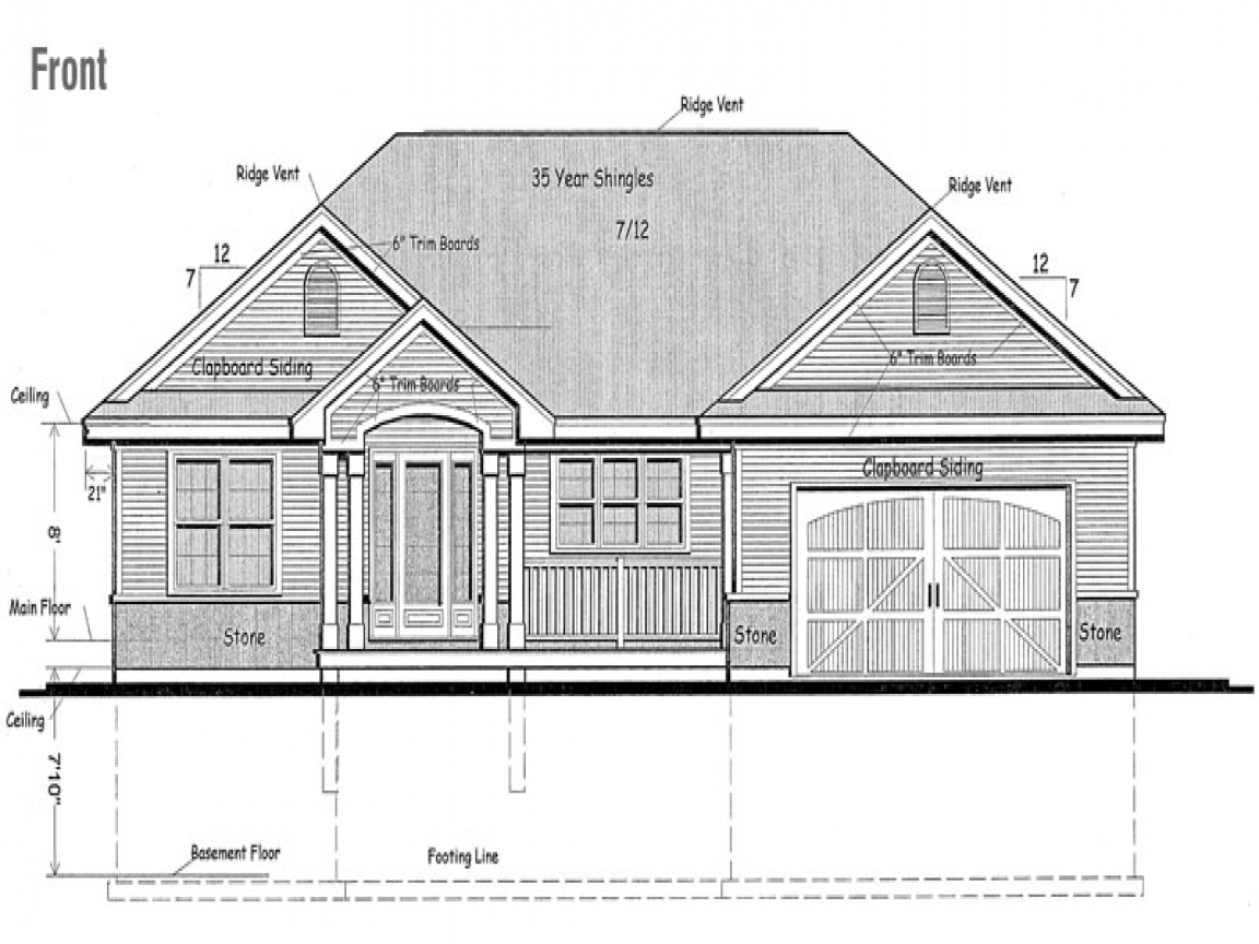 Raised bungalow canadian house plans raised bungalow house for Raised cottage house plans